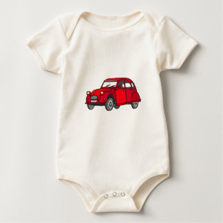 Red duck (2CV) Baby Bodysuit