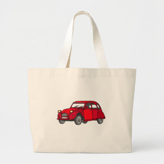 Red duck (2CV) Jumbo Tote Bag