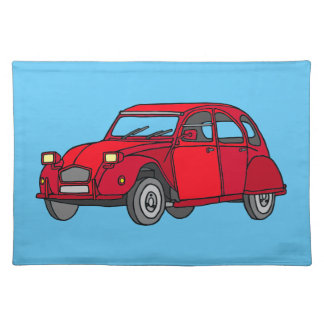 Red duck (2CV) Placemat
