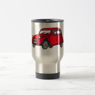 Red duck (2CV) Travel Mug