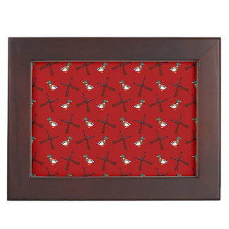 Red duck hunting pattern keepsake box