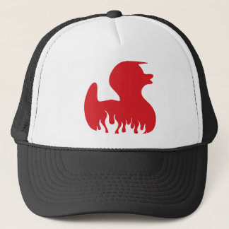 red duck trucker hat