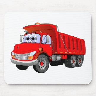 Red Dump Truck Cartoon Mousepads