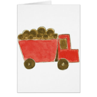 Red Dump Truck Greeting Card