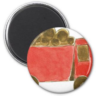 Red Dump Truck Magnet