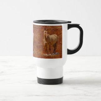 Red Dun Horse-lover's Equine Gift Design Stainless Steel Travel Mug