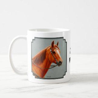 Red Dun Western Quarter Horse Basic White Mug
