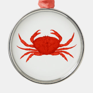 Red Dungeness Crab Logo Christmas Ornament