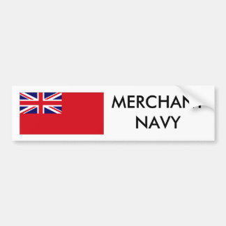 Red Duster, MERCHANT NAVY Bumper Sticker