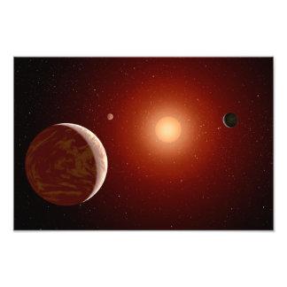 Red Dwarf Star Space Art Photograph