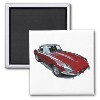 Red E Type Roadster Magnet