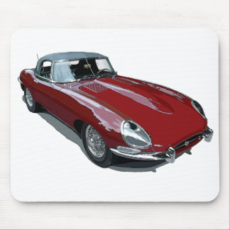 Red E Type Roadster Mouse Mat