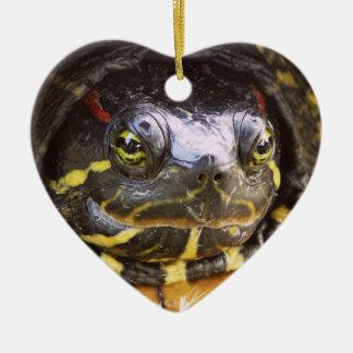 Red Eared Slider Turtle Head Christmas Ornament
