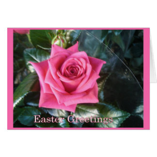 Red Easter Rose Greeting Card