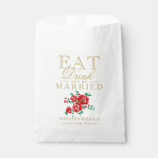 Red - Eat, Drink and be Married - DIY Text Favour Bags
