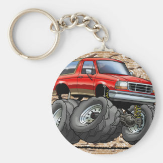 Red Eddie Bauer Bronco Key Ring