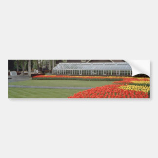 Red Edward Gardens, tulips and greenhouse flowers Bumper Stickers