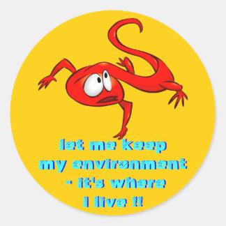Red Eft Newt envelope sealer Round Sticker