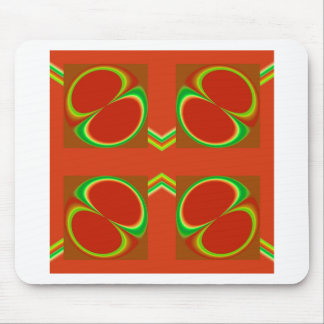 Red eight mouse mats