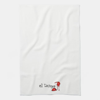 Red el Tango Shoe Kitchen / Guest Towel