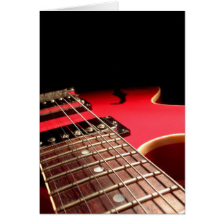 Red Electric Guitar Card