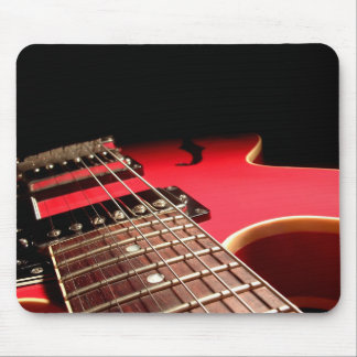 Red Electric Guitar Mouse Pad