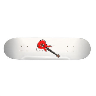 red electric guitar music graphic.png 21.3 cm mini skateboard deck