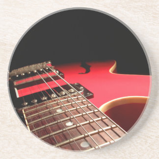 Red Electric Guitar Photo - PERSONALIZE Coaster