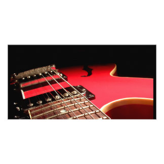 Red Electric Guitar Picture Card