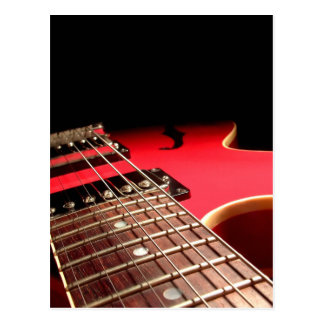 Red Electric Guitar Postcard
