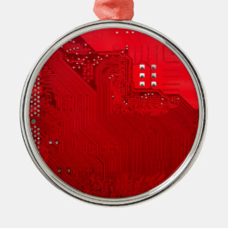 red electronic circuit board.JPG Christmas Ornament