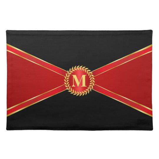 Red Elegance Monogram Place Mats