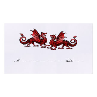 Red Elegant Dragons Wedding Place Card Pack Of Standard Business Cards