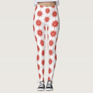 Red elegant star Leggings