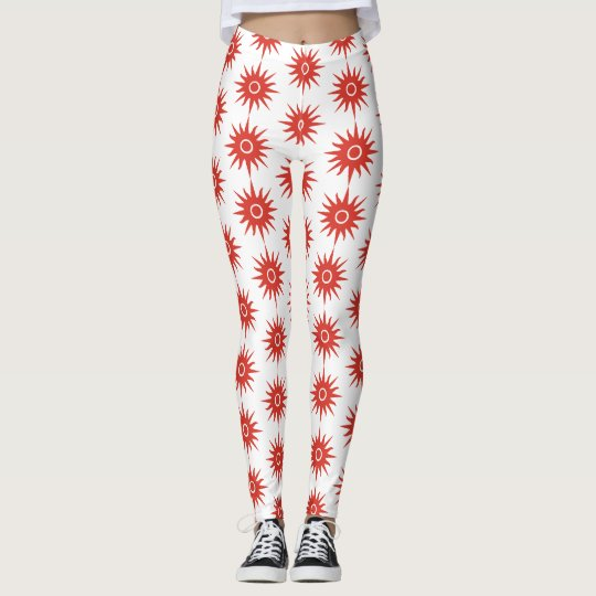 Red elegant star Leggings