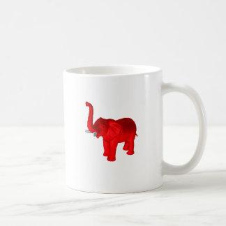 Red Elephant Basic White Mug
