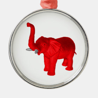 Red Elephant Christmas Ornament