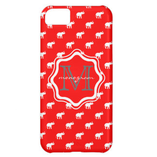 Red Elephant in polkadot iPhone 5C Case