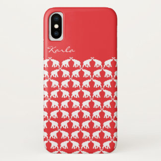 Red Elephant iPhone X Case