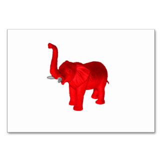 Red Elephant Table Card