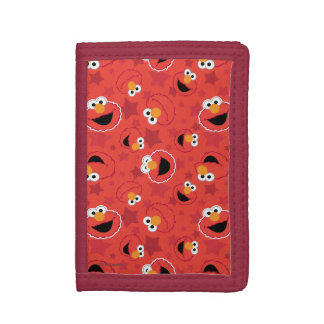 Red Elmo Faces Pattern Trifold Wallet