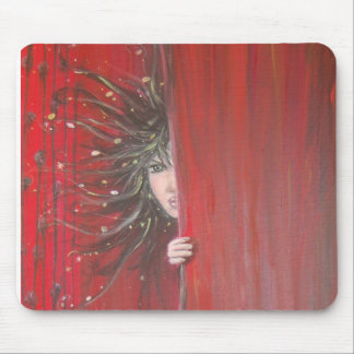 Red elves carpet mouse pad