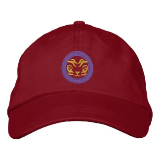Red Embroidered Adjustable Hat by Thaiger Thai Baseball Cap