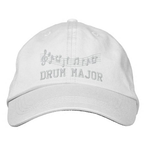 Red Embroidered Drum Major Band Hat