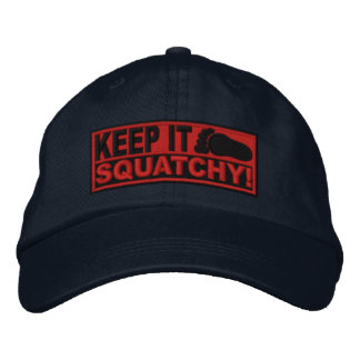 Red *EMBROIDERED* Keep It Squatchy! - Bobo's Embroidered Hat