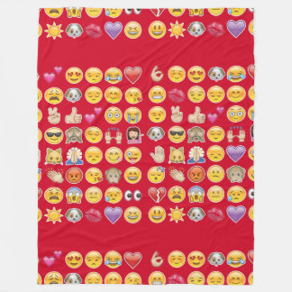 red emoji blanket