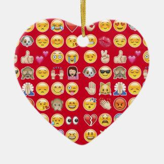 red emoji christmas ornament
