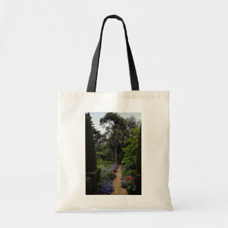 Red English country garden, England flowers Budget Tote Bag