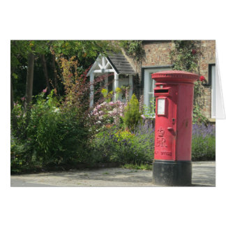 Red English Post Box, Bishopthorpe, York, UK Card