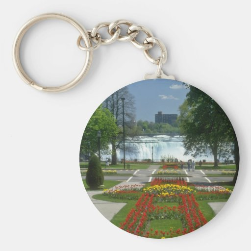 Red Entrance to the Falls, Niagara Falls flowers Key Chain